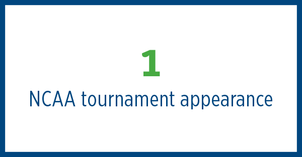 1 NCAA tournament appearance